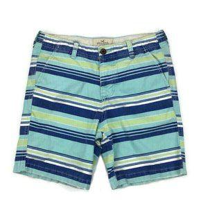 HOLLISTER Cali Longboard Blue White Stripe Shorts